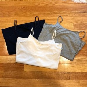 Girl's camis with built in shelf